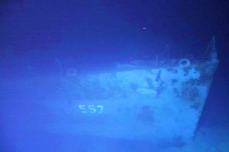 O contratorpedeiro encontrado no fundo do mar, nas Filipinas