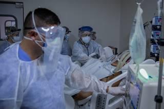 UTI do Hospital Universitário São Francisco de Assis, em Bragança Paulista (SP)