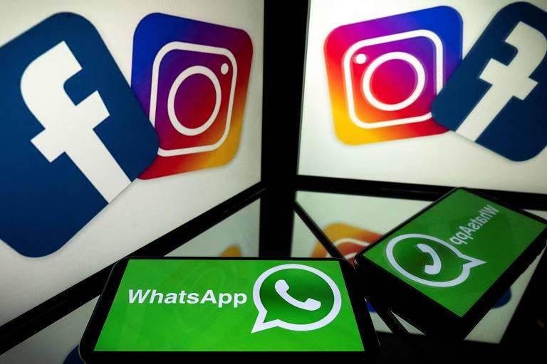 Logos das marcas do grupo econômico Facebook; ONG critica uso de Instagram por menores