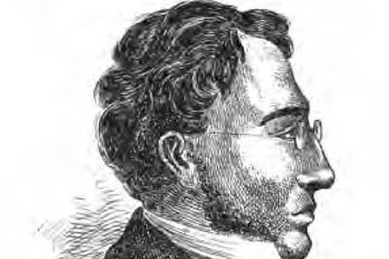 Ilustração mostra homem de perfil