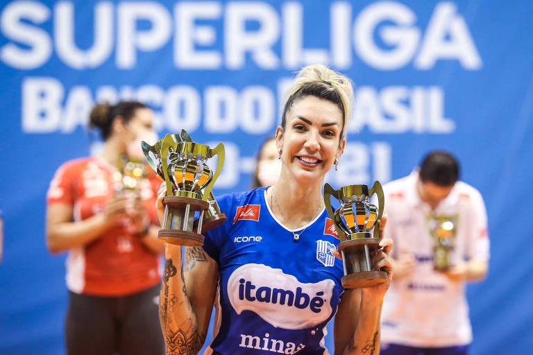 Thaisa, melhor da Superliga, se aposenta da seleção e fica fora da Olimpíada