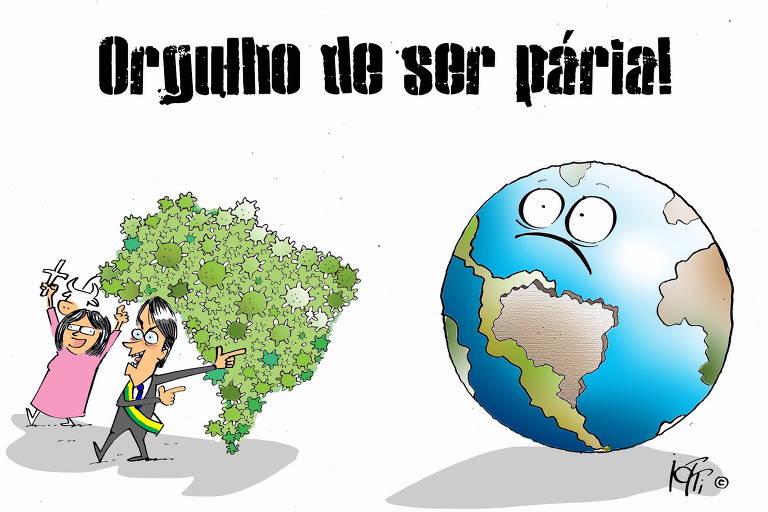 Brasil está orgulhoso de ser pária, diz leitor