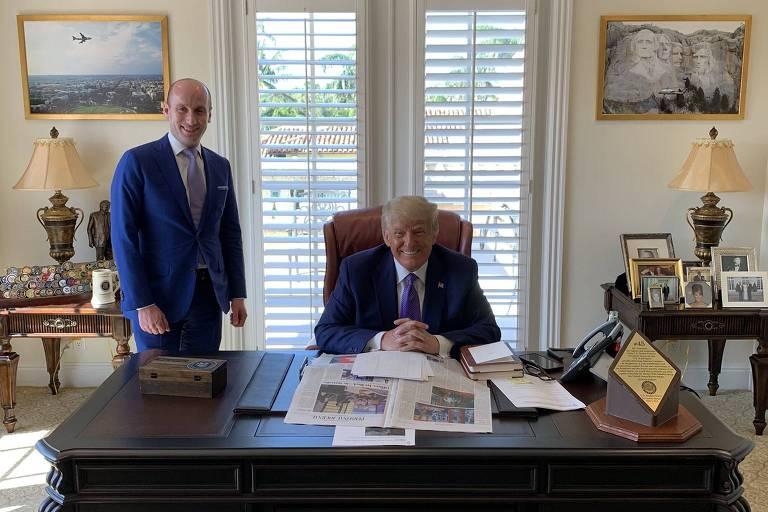 Trump faz 'réplica' do Salão Oval em seu resort na Flórida