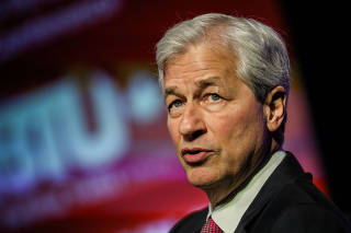 FILE PHOTO: JPMorgan Chase CEO Jamie Dimon speaks at a conference in Washington