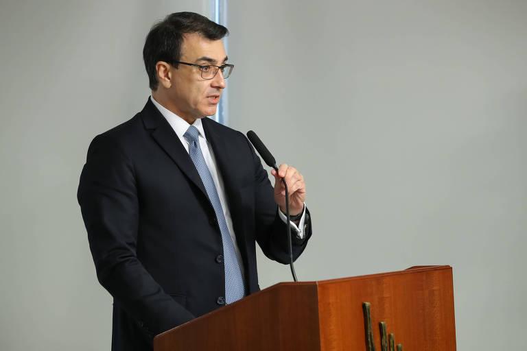 O ministro das Relações Exteriores, Embaixador Carlos França, em discurso de posse