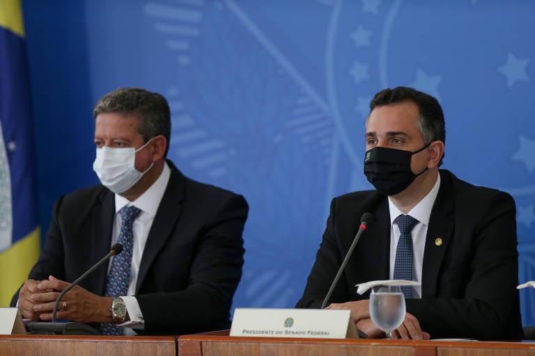 Presidentes da Câmara e do Senado, Arthur Lira e Rodrigo Pacheco querem acelerar tramitação de projeto para substituir Lei de Segurança Nacional