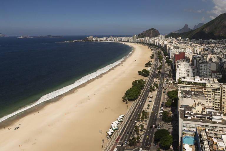 Praias do Rio de Janeiro vazias na pandemia