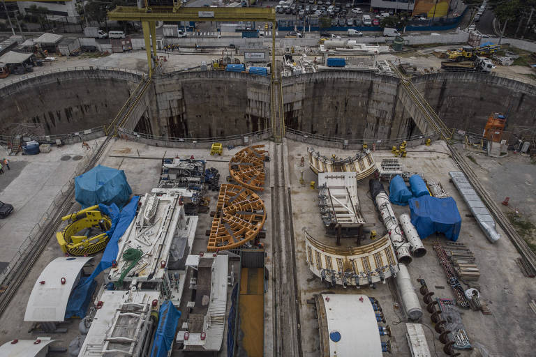 Obras de construção da linha 6 do Metrô