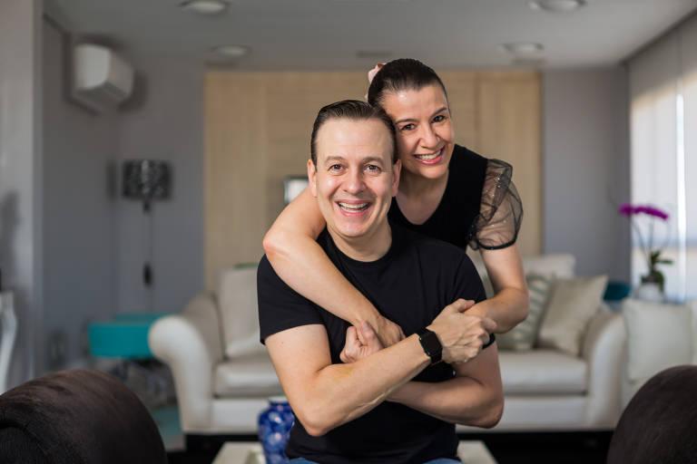 Celso Zucatelli com a mulher, Ana Claudia Duarte