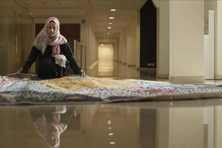 Cena de 'Vermelho, Azul e Amarelo', que integra a mostra Mulheres Árabes Cinema e Poesia