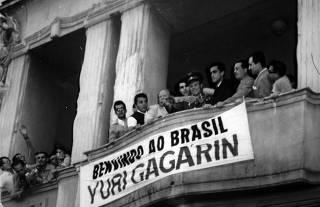 YURI GAGARIN VISITA O BRASIL EM 1961