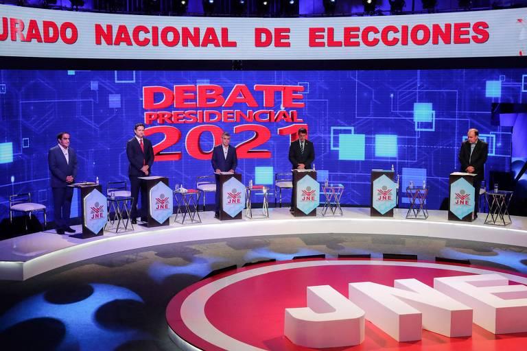 Debate entre candidatos à Presidência do Peru, em Lima