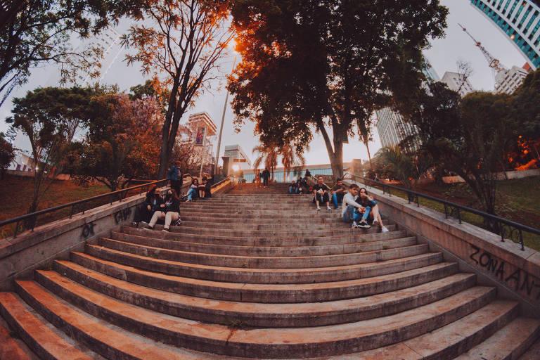Escadaria do Mira, antigo Mirante 9 de Julho