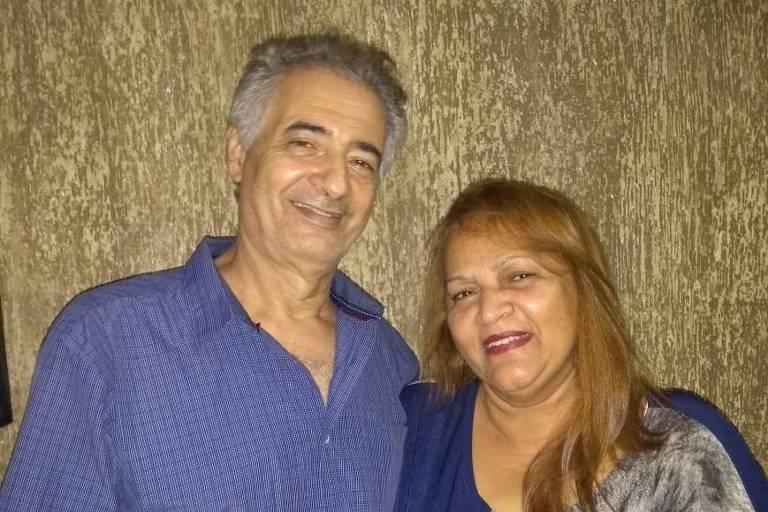 Gilvanda dos Santos Nascimento (1954-2021) e o marido Raimundo Nonato