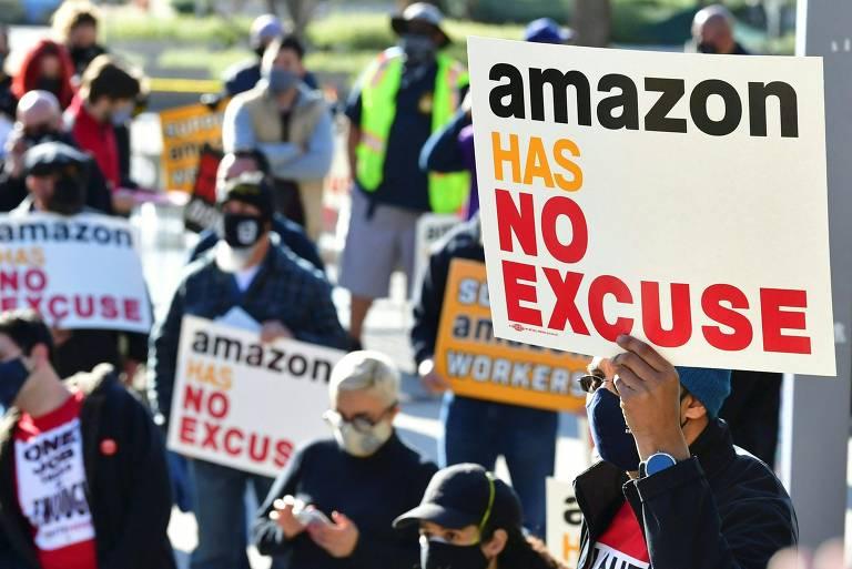 Amazon derrota movimento trabalhista e Biden nos EUA