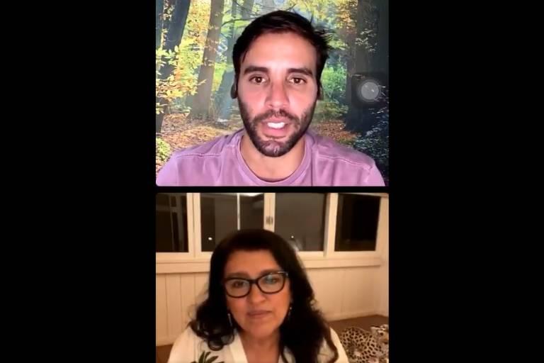Live do nutricionista Daniel Cady, marido de Ivete Sangalo, com Regina Casé