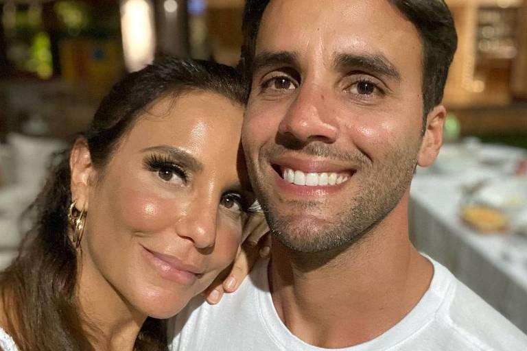 A cantora Ivete Sangalo e o marido Daniel Cady