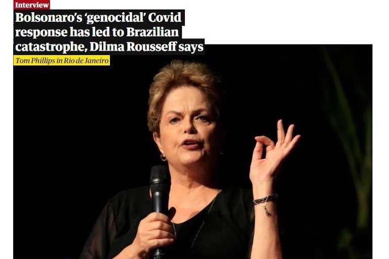 Dilma vê Brasil 'à deriva em oceano de fome e doença', no Guardian