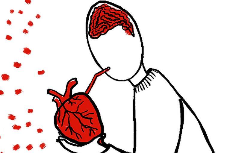 O coração é uma bomba hidráulica aborrecida, não ama coisa nenhuma