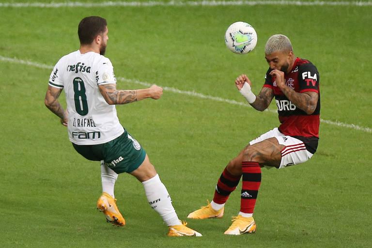 Flamengo e Palmeiras reproduzem o embate entre arte e resultado