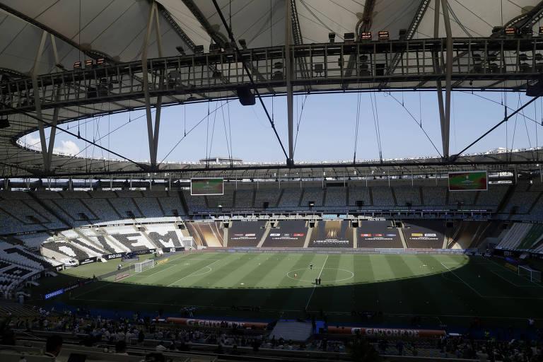Estádio do Maracanã antes da final da Libertadores de 2020