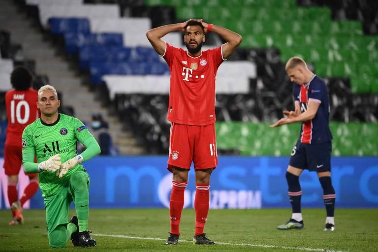 Choupo-Moting, autor do gol do Bayern, lamenta chance perdida na desclassificação para o PSG