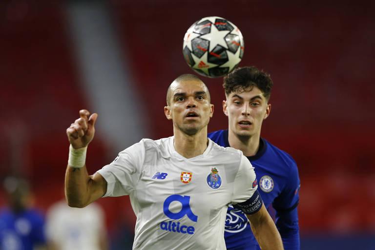 O Porto, do capitão Pepe, também venceu sua partida, mas não reverteu a vantagem do Chelsea