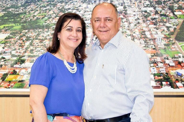 O deputado federal José Carlos Schiavinato ao lado da mulher, Marlene