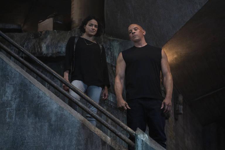 Cenas do filme Velozes e Furiosos 9 com Vin Diesel