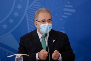 Marcelo Queiroga durante coletiva ddo Comitê de Enfrentamento á Covid-19