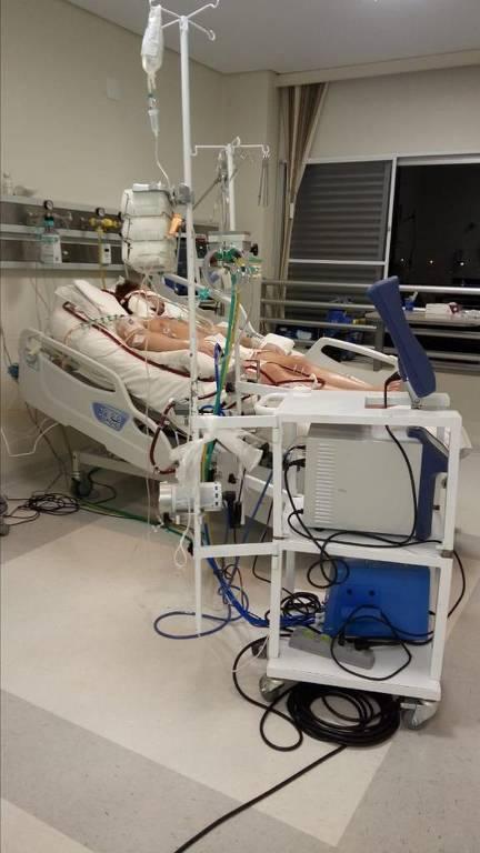 Pulmão artificial em pacientes com Covid-19