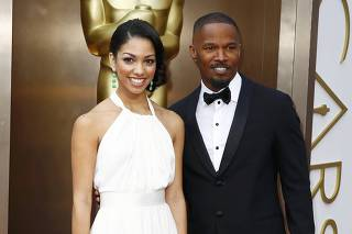 Actor Jamie Foxx and daughter Corinne arrive at the 86th Academy Awards in Hollywood