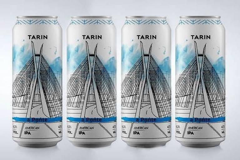 Cerveja A Ponte, american IPA lançada pela Tarin Cervejaria