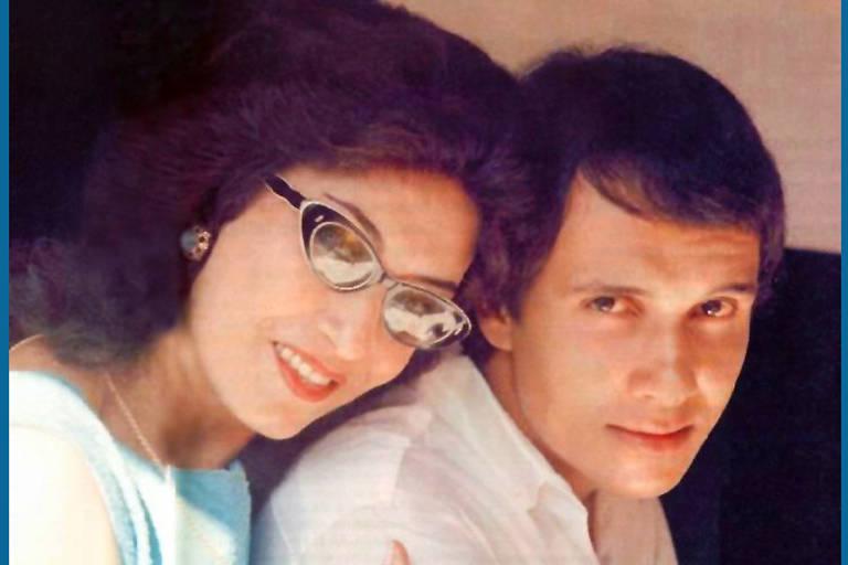 Roberto Carlos com a mãe Laura Moreira Braga (ou Lady Laura)