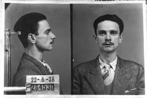 Herminio Sacchetta, preso, 1938, prontuário do DOPS ( Foto: acervo pessoal )