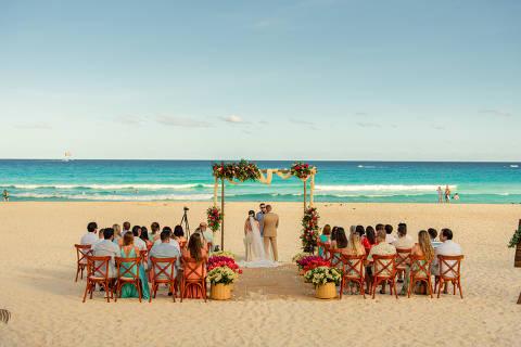 Casamento em Cancún, realizado, antes da pandemia, pela empresa Casa de Dois