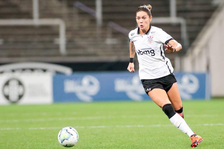 Gabi Zanotti durante partida do Corinthians no Campeonato Brasileiro Feminino 2020