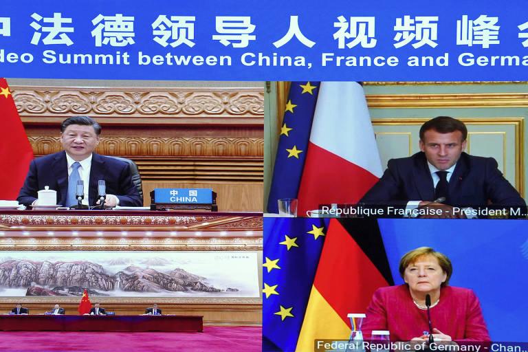 Merkel e Macron voltam a procurar Xi Jinping, apesar da pressão de Biden
