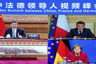 CHINA-BEIJING-XI JINPING-FRANCE-GERMANY-LEADERS-VIDEO SUMMIT (CN)