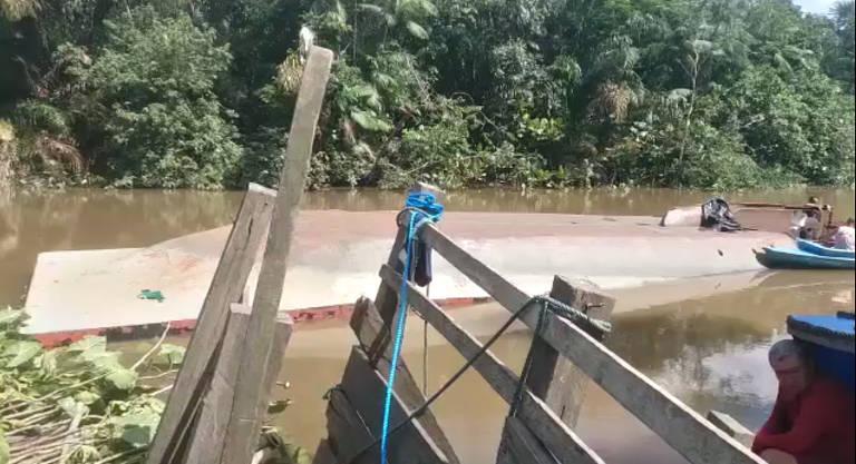 Balsa com 40 bois naufraga no Pará; 30 morreram na hora