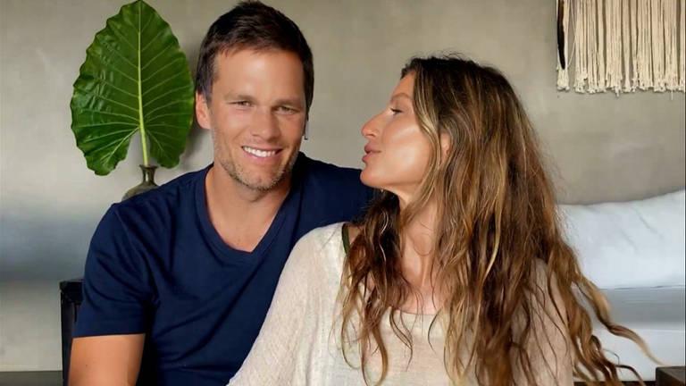 Tom Brady se declara à Gisele e fala sobre aposentadoria: 'Estou definitivamente mais perto do fim'. Atleta americano fez uma participação em entrevista da esposa, Gisele Bündchen