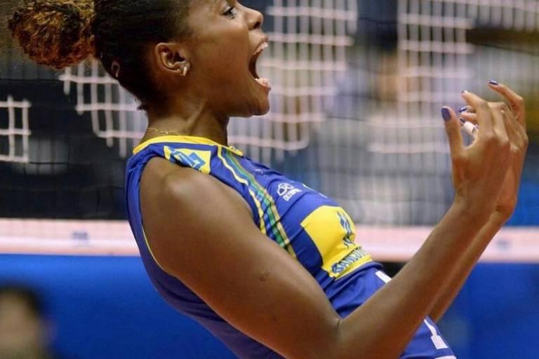 """A jogadora Fabiana Claudino publicou uma foto. """"Saudade dessa energia"""", escreveu"""