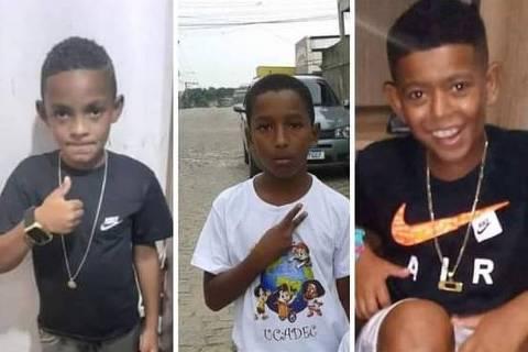 Lucas, Alexandre e Fernando, os três meninos desaparecidos em Belford Roxo (RJ) ao final de dezembro