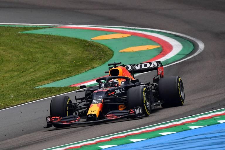 Max Verstappen durante o GP de Emilia Romagna