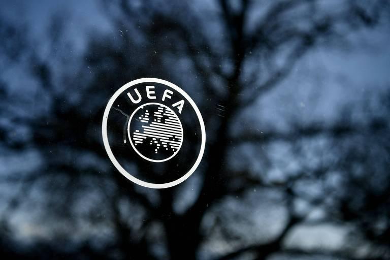 Símbolo da Uefa em sua sede na Suíça
