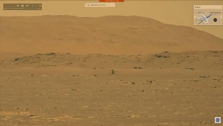 Helicóptero Ingenuity realiza o primeiro voo de uma aeronave em Marte