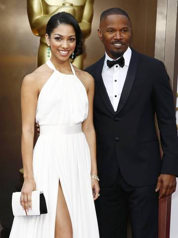 Actor Jamie Foxx and daughter Corinne arrive at the 86th Academy Awards in Hollywood, California March 2, 2014.   REUTERS/Lucas Jackson (UNITED STATES TAGS: ENTERTAINMENT) (OSCARS-ARRIVALS) ORG XMIT: OSC247