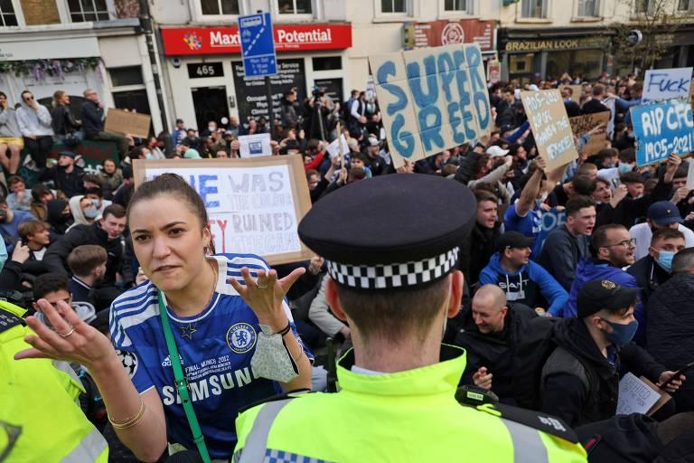 Protestos contra a criação da Superliga europeia