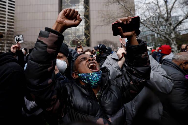 Americanos comemoram resultado do julgamento no caso George Floyd