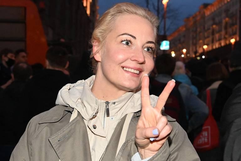 Protesto em favor de Alexei Navalni